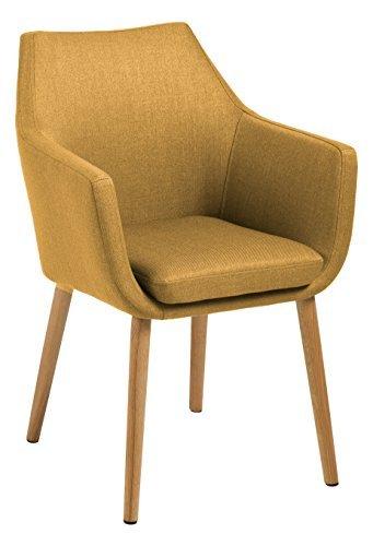 AC Design Furniture 61250 Armstuhl, Stoff, curry, 58 x 58 x 84 cm