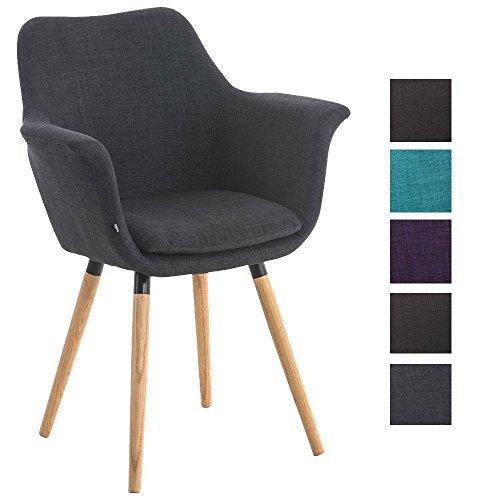 CLP Besucher-Stuhl VANCE, Holzgestell, Stoff-Bezug, Polsterstuhl mit Armlehne