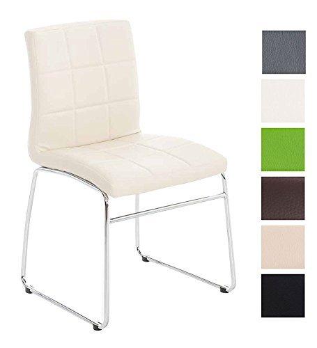 CLP Küchen-Stuhl / Besucherstuhl SARAH, gut gepolsterte Sitzfläche, pflegeleichter Bezug creme