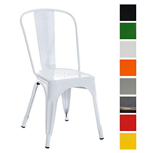 CLP Metall Stuhl stapelbar, Stapelstuhl BENEDIKT, Sitzhöhe 46 cm, klassich & robust