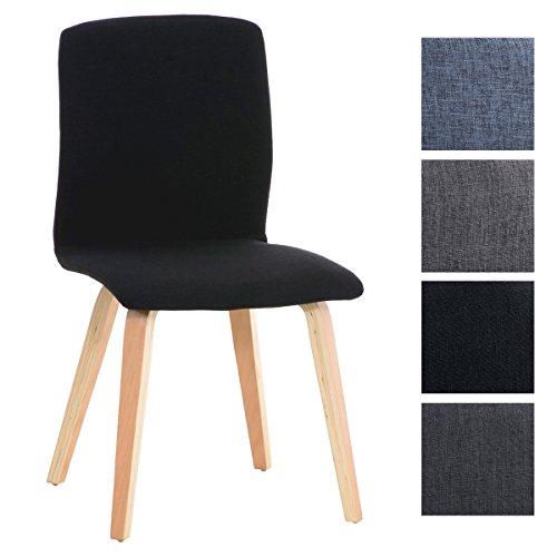 CLP Retro Besucher-Stuhl GRANAT, Polsterstuhl modern, Holzgestell, Stoffbezug