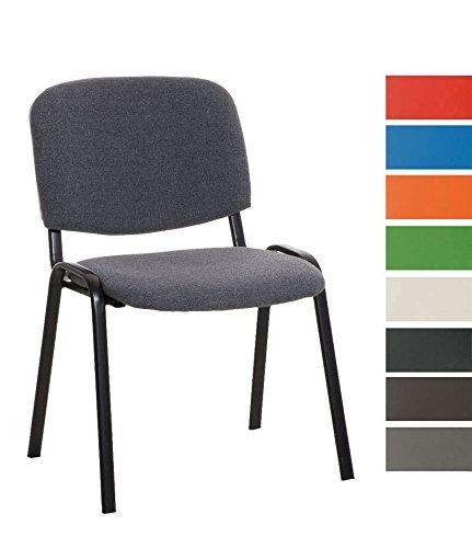 CLP Stapel-Stuhl KEN Stoff Bezug, Besucher-Stuhl stapelbar, gepolstert - preiswert, robust, einfach bequem