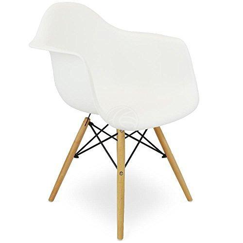 Cablematic - Kindersitz Eiffelturm inspiriert Sessel Kunststoff weiß 1 Stück