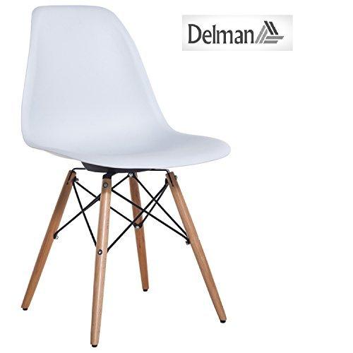 Delman Esszimmerstuhl Esszimmerstühle Wohnzimmerstühle Designerstühle 02-0010 (Weiß)