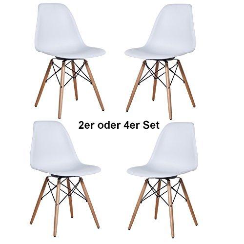 Delman Esszimmerstuhl Esszimmerstühle Wohnzimmerstühle Designerstühle 02-0010WT (2 Stück)