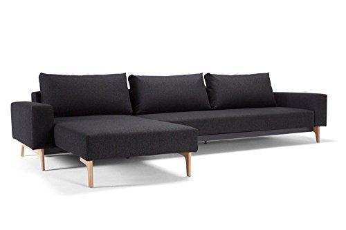 Design Sofa Schlafsofa Idun Lounger Twist _ Black Convertible Bett 200* 140cm