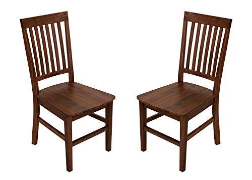 Esszimmerstuhl, Stuhl, Esstischstuhl, Küchenstuhl, Essstuhl, Lehnstuhl, Set, Holzstuhl, Landhausstil, Eukalyptusholz, massiv