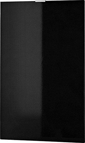 Germania 3457-83 Tür mit Einlegeboden für Kommode/Sideboard Colorado in Schwarz Hochglanz, 48 x 76 x 2 cm (BxHxT)
