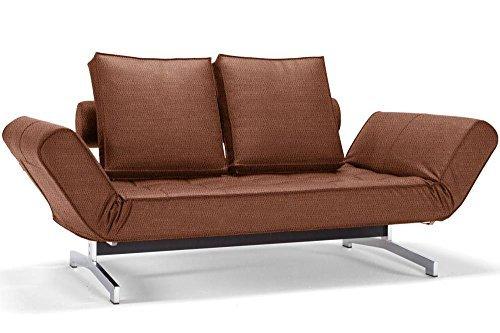 INNOVATION Living Sofa Bett Design Ghia Faunal Convertible 80* 210cm Untergestell Chrom