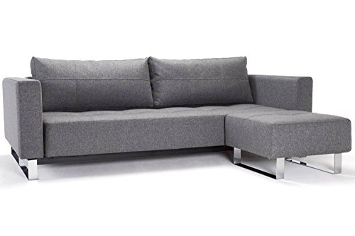 INNOVATION Sofa Cassius Deluxe Excess Lounger grau Twist Charcoal Convertible Bett 155 * 200 cm