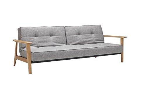 Innovation - Splitback Frej Schlafsofa - blau-grau - Mixed Dance - Per Weiss - Design - Sofa