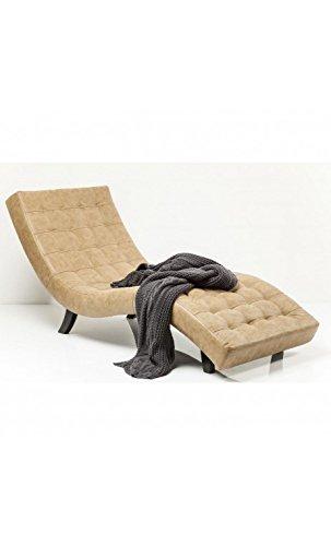 Kare Design–Sessel Design Effekt Leder beige Needlestripe Snake Slumber Stone
