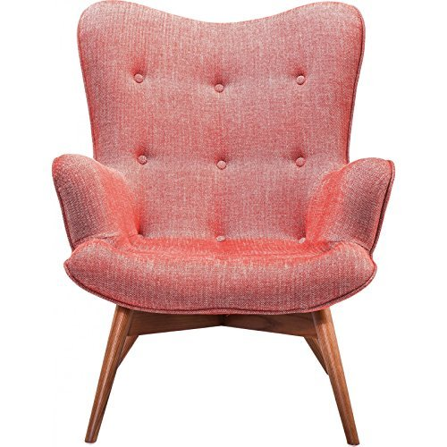 Kare Design Sessel Textil rot mit Armlehnen Retro Angels Wings Rhythm Karmin