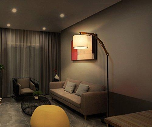 Kreative Nordic Massivholz American Retro Village Wohnzimmer Lampe Couchtisch Studie Lampe Einfache Schlafzimmer Stehleuchte