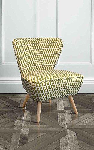 MY-Furniture DELILAH Gepolsterter Retro Beistellsessel