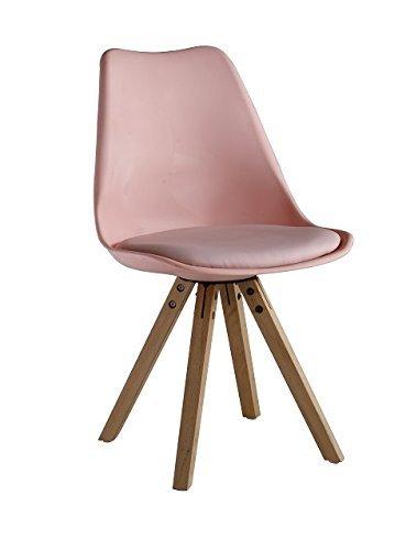 P & N Homewares® Sofia Eiffelturm inspiriert Stuhl aus Kunststoff Retro Weiß Schwarz Grau Rot Gelb Pink Grün Blau rose