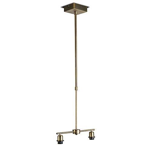 QAZQA Design / Modern / Pendelleuchte / Pendellampe / Hängelampe / Lampe / Leuchte Mix 2 flammig Bronze Metall Länglich LED geeignet E27 Max. 2 x 60 Watt Höhenverstellbar