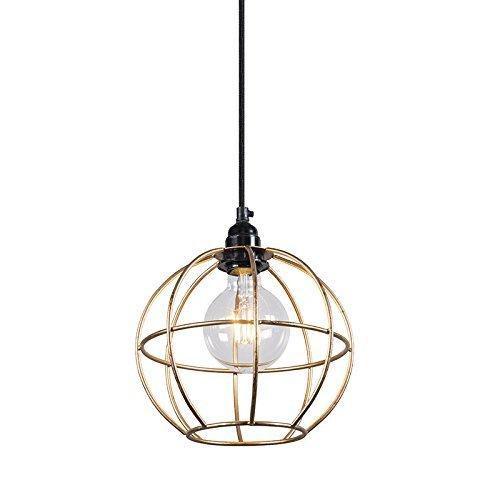 QAZQA Design / Modern / Pendelleuchte / Pendellampe / Hängelampe / Lampe / Leuchte Retro Frame Luxe A Gold / Messing Metall Kugel / Kugelförmig LED geeignet E27 Max. 1 x 40 Watt