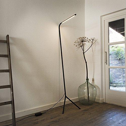 QAZQA Design / Modern / Stehleuchte / Stehlampe / Standleuchte / Lampe / Leuchte Lazy Lamp schwarz Metall Länglich inklusive LED (nicht austauschbare) LED Max. 1 x 12 Watt Dimmer / Dimmbar