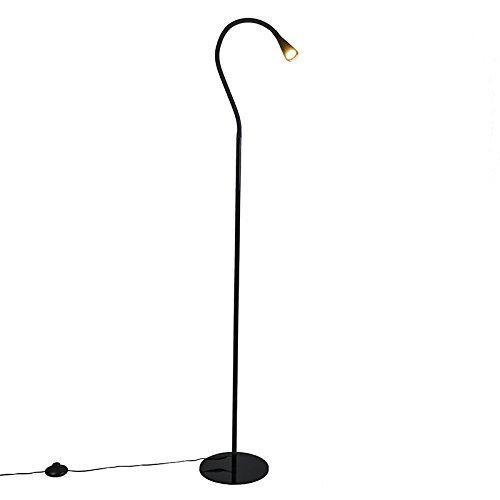 QAZQA Design / Modern / Stehleuchte / Stehlampe / Standleuchte / Lampe / Leuchte Swan schwarz LED Kunststoff / Metall / Länglich inklusive LED (nicht austauschbare) LED Max. 1 x 3.5 Watt