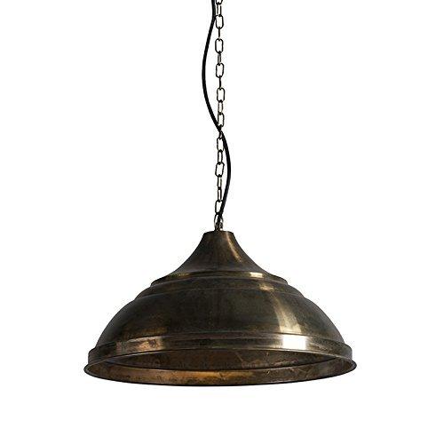 QAZQA Industrie / Klassisch / Antik / Landhaus / Vintage / Rustikal / Esstisch / Esszimmer / Pendelleuchte / Pendellampe / Hängelampe / Lampe / Leuchte Arctic Gold / Messing Metall Rund LED geeignet E27 Max. 1 x 40 Watt