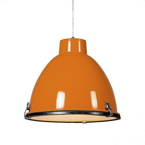 QAZQA Industrie / Modern / Esstisch / Esszimmer / Pendelleuchte / Pendellampe / Hängelampe / Lampe / Leuchte Anteros 38 orange Glas / Metall / Rund LED geeignet E27 Max. 1 x 60 Watt