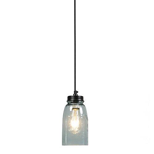 QAZQA Landhaus / Vintage / Rustikal Pendelleuchte / Pendellampe / Hängelampe / Lampe / Leuchte Masons pastell-blau Glas / Metall / Rund LED geeignet E27 Max. 1 x 25 Watt