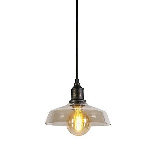 QAZQA Landhaus / Vintage / Rustikal Pendelleuchte / Pendellampe / Hängelampe / Lampe / Leuchte Ostra braun Metall Rund LED geeignet E27 Max. 1 x 60 Watt