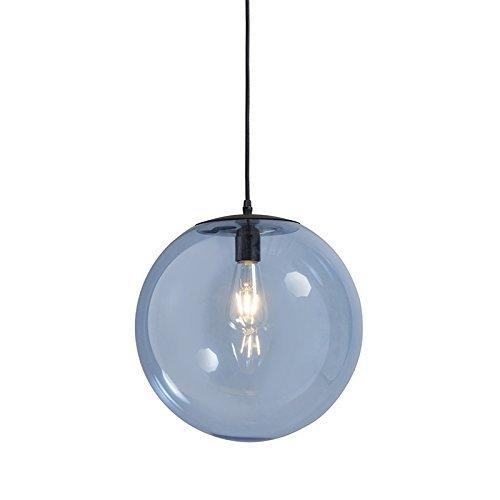 QAZQA Modern Pendelleuchte / Pendellampe / Hängelampe / Lampe / Leuchte Pallon 35 blau Glas / Metall / Kugel / Kugelförmig LED geeignet E27 Max. 1 x 60 Watt