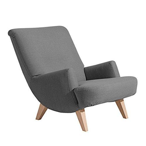 Retrosessel ' Brantford ' von Max Winzer - Toller Vintage Sessel im Retro-Look in Leinenoptik der 50er Jahre aus 11 Farben wählbar