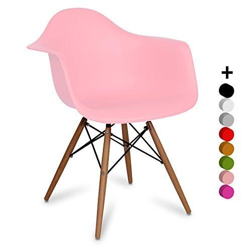 Stuhl Eames DAW style - Inspiration Charles&Eames- light pink - 63 x cm 61 x cm 80 cm - SANTANI MOBILI