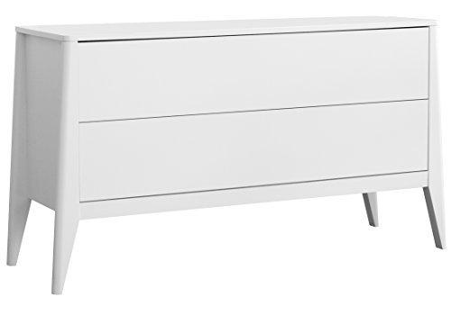 Tenzo 4082-005 French Designer Kommode / Sideboard, MDF, weiß, 43 x 132 x 72 cm
