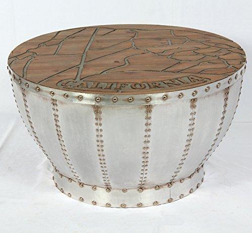 Vintage Couchtisch Industrie Used Design Tisch Retro Kaffeetisch rund Loft Möbel 508