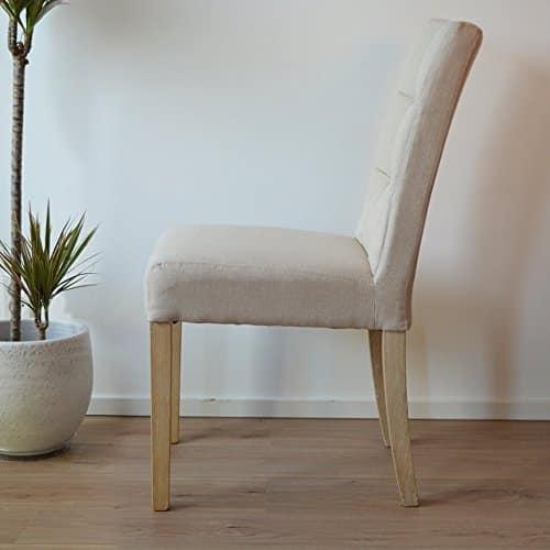 Paris Esszimmerstühle stuhl stoff beige 2er set
