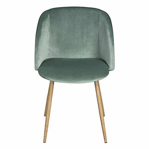 1er Set Vintager Retro Stuhl Sessel Polstersessel Samt Lounge sessel Clubsessel Fernsehsessel (Grün)