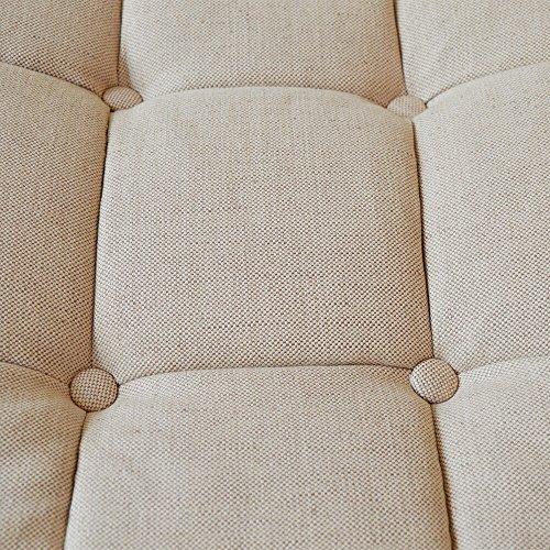 Paris Plus Esszimmerstuhl mit Armlehnen Baumwolle-Leinen beige