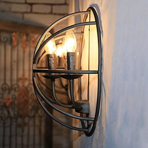 BAYCHEER große Lampe E14 Globe Hängeleuchte Käfig Industrielampe Industrie Lampe Wohnzimmer Kronleuchter (3 Flammige)