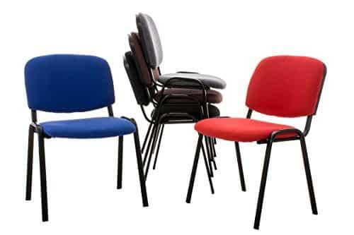 CLP 12x Stapelstuhl KEN, Besucher-Stuhl stapelbar, preiswert, robust, einfach bequem grau