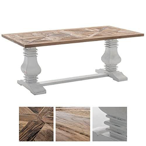 CLP Holz Esszimmer-Tisch TABOA, handgefertigt, Shabby chic Landhaus-Stil, Größe wählbar 180x90x78 cm
