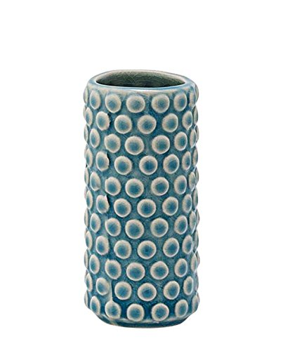 Bloomingville Vase Bubble Structure sky blue