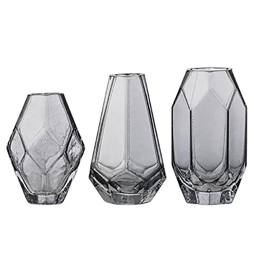 Bloomingville Vasen, Grey Glass, 3er Set