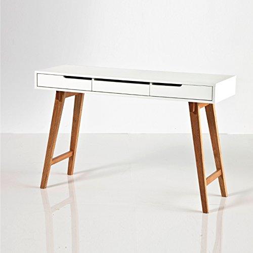 MCA furniture GmbH Sandvika S Schreibtisch MDF-Platte matt weiß lackiert (40136WB4)