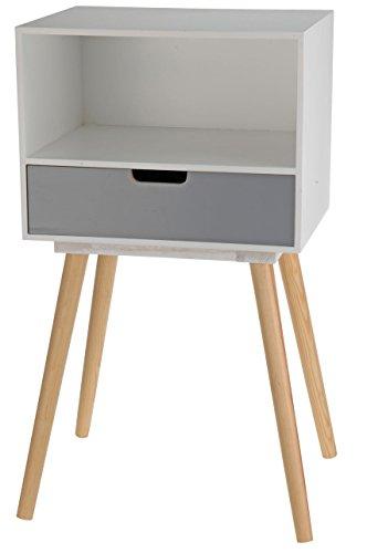 Moderne Holz Kommode im 70er Jahre Retro Design - 1 Schublade - Beistelltisch Konsolentisch Sideboard