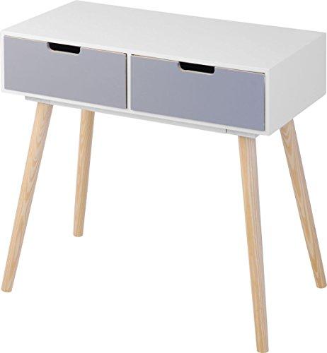 Moderne Holz Kommode im 70er Jahre Retro Design - 2 Schubladen - Beistelltisch Konsolentisch Sideboard