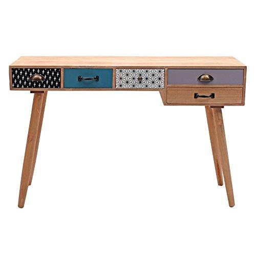 """RETRO SCHREIBTISCH """"OLDSCHOOL""""   118 cm, Holz   Vintage Bürotisch, Büromöbel"""