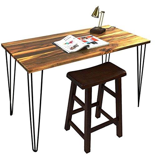 Signstek FF099 4er-Set Vintage Metall Drei-Stange Haarnadel Tischbeine 71cm/28'' Höhe für Couchtische, moderne Schreibtische, Nachtständer oder Stühle