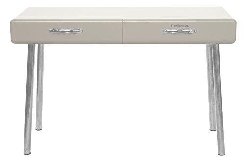 Tenzo 4950-083 Cobra Designer Schreibtisch, 76 x 120 x 50 cm, MDF lackiert, warm grey