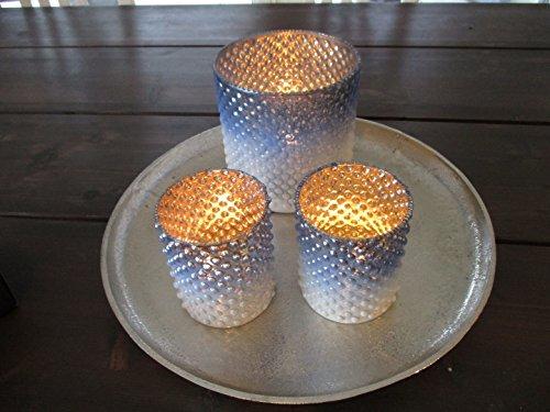 Windlicht blau 10 cm Kerzenhalter Teelicht