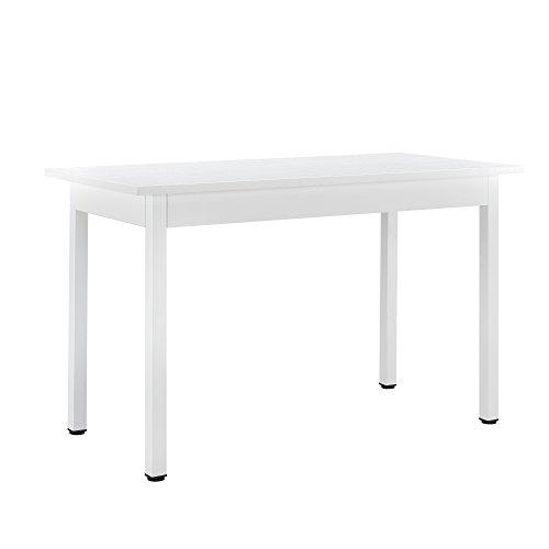 [en.casa] Moderner Esstisch für 4 Stühle weiß (120x60cm) Esszimmertisch Küchentisch