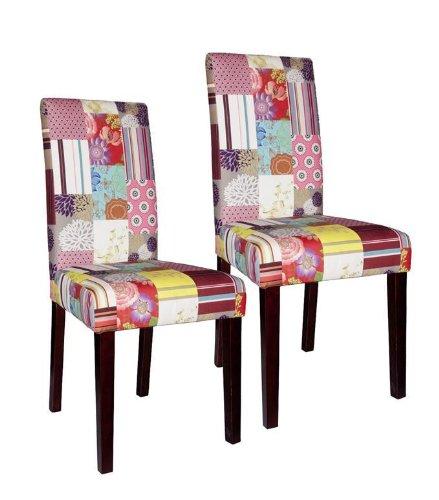 2x Sit Stuhl Patchwork - Samt - Pinie kolonial